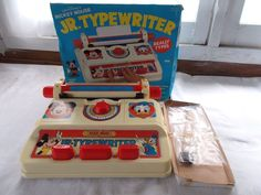 Vintage Disney Mickey Mouse Jr Typewriter  #Illco