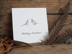 Pheasants Wedding Invitations by afarmersdaughteruk on Etsy, £2.60