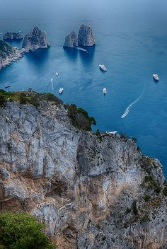 Fraglioni, Capri-- Wow! AND we could see the Fraliono Rocks from our balcony in Prianio!!!! Gorgeous!!!!