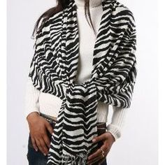 Zebra print Pashmina Wrap