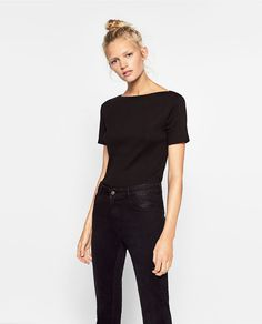 Image 1 of BOATNECK TOP from Zara