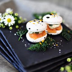 Savory macarons are having a moment. We could eat East 8's smoked salmon macs every morning.