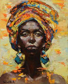 African woman portrait painting, Original oil painting (2016) Oil painting by Anastasiya Valiulina | Artfinder #OilPaintingGirl