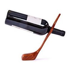 Golf Club Balancing Wine Bottle Holder. For the golf geeks.