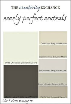 Nearly Perfect Neutrals (Color Palette Monday