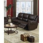 Poundex Furniture - Dark Chocolate Bonded Leather Sofa - F7738