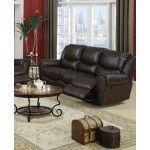 Poundex Furniture - Dark Chocolate Bonded Leather Sofa - F7738  SPECIAL PRICE: $632.00