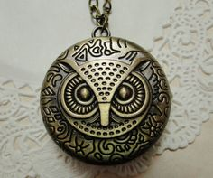 Owl Pocket Watch