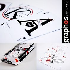 Typographic Deck of Cards