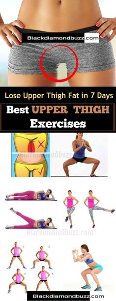 Upper Thigh Fat Workout : How to Get Rid of Upper Thigh Fat Fast in 7 Days with These Best Thigh Fat Burner Exercises that will Tone and Slim your Thighs and Legs Fat Quickly at Home by eva.ritz fat loss diet how to get rid Fitness Workouts, Fitness Po, Fitness Motivation, Sport Fitness, Body Fitness, Health Fitness, Butt Workouts, Fitness Women, Workout Tips