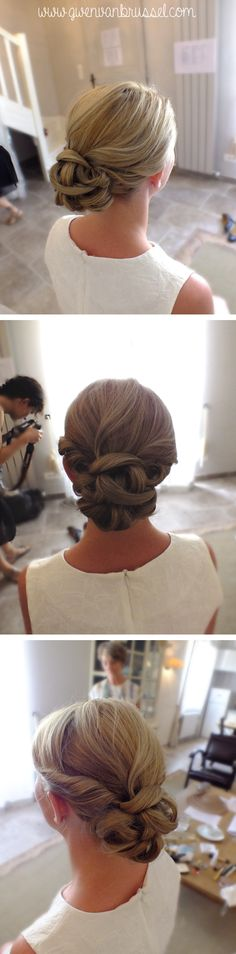 Chignon bas mariage on pinterest chignon bas updo and coiffure mariage Chignon mariee bas