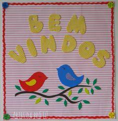Artes da Pró Lú: cartazes para sala de aula: cartaz boas vindas.