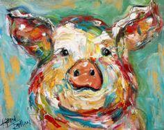Leeuw 20 x 40 galerij kwaliteit Giclee Print op door Karensfineart