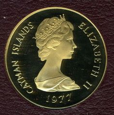Cayman Islands 100 dollars Proof gold coin