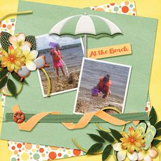 Beach Bum - digital scrapbook layout made with Tropical Sunset by Time Out Scraps, available at With Love Studio. I love the colors in this it. Such a rich palette.