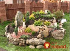 Dajte na skalku toto a bude nádherná celú jeseň aj počas mrazov: 21 prekrá… Outdoor Landscaping, Front Yard Landscaping, Outdoor Gardens, Rockery Garden, Succulents Garden, Front Garden Landscape, Landscape Design, Garden Sink, Rock Garden Design