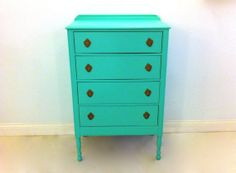 Vintage Petite Highboy In Spearmint by minthome on Etsy, $275.00