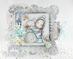 DeeDee´s Card Art: ♥ Noor Design UK DT - Me And My Snowman ♥ Image by Magnolia, papers by MajaDesign & embellishments by Noor Design UK Shop
