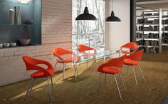 Time to talk and relax, though the name might suggest otherwise, samba is a beautiful chair that adapts to any room. Designed and made in Europe to exacting standards it can be finished in fabric or a range of luscious leathers - just contact Minarox