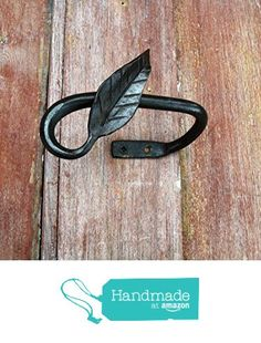 Curtain Tie Back, Leaf End Hand Forged Wrought Iron from Furnace Brook Iron Works http://www.amazon.com/dp/B01DTGI5US/ref=hnd_sw_r_pi_dp_o5Kbxb19QFZ4B #handmadeatamazon