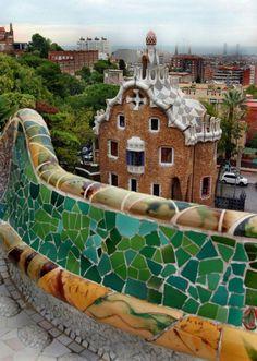 Park Guell. Antoni Gaudi. Barcelona, Spain