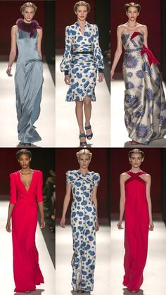 Love the two dresses in the center. ESP the bottom one! Carolina Herrera Fall 2013 Collection | Tom & Lorenzo