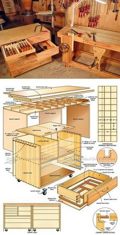 Rolling Tool Cabinet Plans - Workshop Solutions Plans, Tips and Tricks | WoodArchivist.com