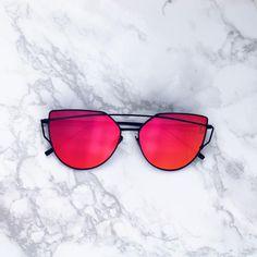 05a3739235380 UV 400 Metal Frames Polycarbonate Mirror Lens Red mirrored lenses Cat Eye  Sunglasses, Beach Sunglasses