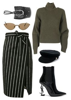 #196 by minia001 on Polyvore featuring polyvore fashion style Balenciaga Yves Saint Laurent Alexander Wang Manokhi Cartier clothing