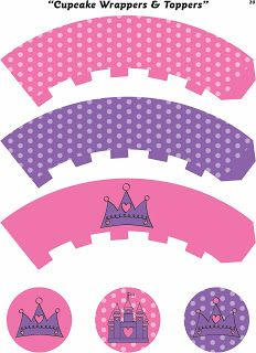Princess Cupcake Wrappers & Toppers