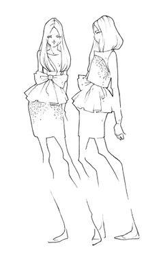 Fashion illustration - dress sketches; fashion design drawings // Milan Zejak