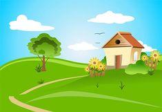 Casa, Arquitetura, Design, Campo, Vila