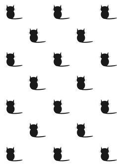 FREE printable #cat pattern paper | #blackandwhite