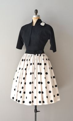 vintage 50s dress  and bolero jacket I would add a pop of color, for more fun!