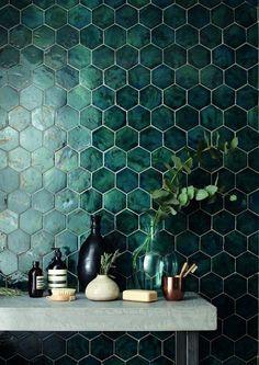 domus tile uk / terracotta range // I& in love with the green tile! It& - domus tile uk / terracotta range // I& in love with the green tile! It& so interesting -