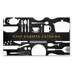 tarjetas de presentacion para chef - Buscar con Google