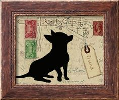 chihuahua ORDERED MOUNTED ON WOOD 5-30