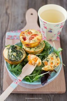 Frittatine al forno con verdure, recipe veggie omlette, frittatas