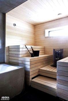 People have been enjoying the benefits of saunas for centuries. Spending just a short while relaxing in a sauna can help you destress, invigorate your skin Sauna Steam Room, Sauna Room, Saunas, Bathroom Spa, Small Bathroom, Bathroom Storage, Bathroom Ideas, Sauna Design, Outdoor Sauna