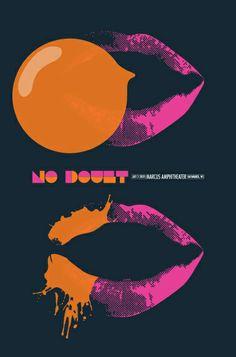 no doubt concert poster