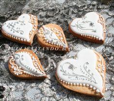 silver wedding | Cookie Connection Sweet Cookies, Heart Cookies, Iced Cookies, Holiday Cookies, Cupcake Cookies, Sugar Cookies, Wedding Shower Cookies, Elegant Cookies, Engagement Cookies