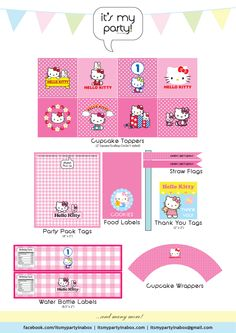 It's My Party In A Box - Hello Kitty Party Printables. http://www.facebook.com/ItsMyPartyInABox