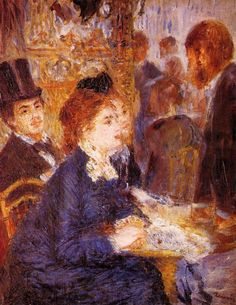 At the Cafe : Pierre Auguste Renoir : Museum Art Images : Museuma