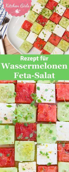 Habt Ihr schon einmal die Kombi aus Wassermelone, Feta und Gurke probiert? Nein? Dann probiert jetzt unser Rezept!
