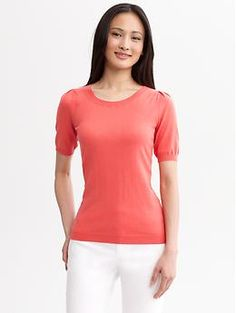 Puff-sleeve pullover | Banana Republic - in so many great colors