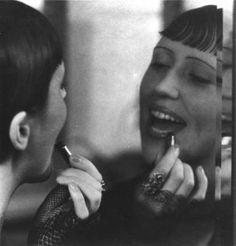 Eckstein with lipstick,1930 by Ellen Auerbach*