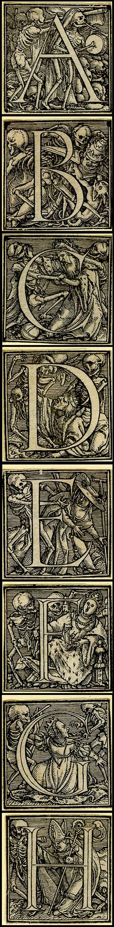 ...from Holbein's Dance of Death Alphabet. © The Trustees of the British Museum http://www.britishmuseum.org
