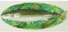 Majolica Fish Server Lid only. Pike version. George Jones, 1870's, England