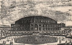 CHELSEA/BUILDINGS: Ranelagh Rotunda; Antique book illustration, 1900; approximate size 5.5 x 9.0cm, 2.25 x 3.5 inches