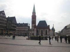 Outside Old Nicholas Church Frankfurt